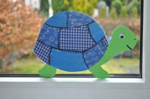 Fensterbild: Schildkröte